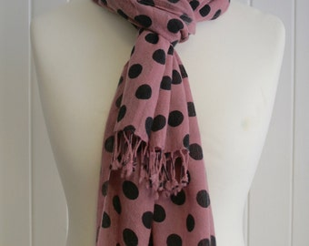 20% OFF Polka dot Cashmere Scarf/free shipping/giftformum/limited offer