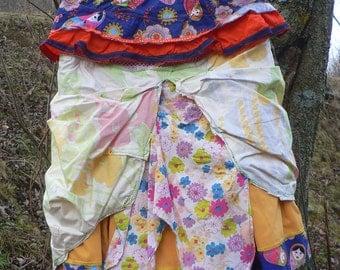 MATRIOSHKA skirt in cotton patchwork