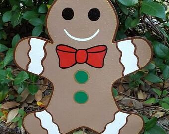 Gingerbread Boy Decoration, Gingerbread boy yard art, gingerbread decoration, gingerbread christmas decor, gingerbread outdoor decoration