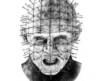 Hellraiser - Pinhead Pencil Portrait Print
