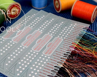 Waxed Linen Thread Sajou Fil au Chinois Sample Cards in 5 sizes/Corded Thread/Lin Cable/Saddlery Thread