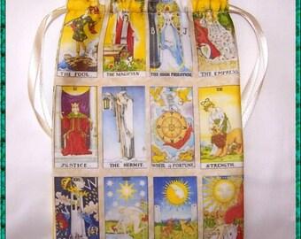 Tarot Card Bag, Major Arcana Design for most Angel, Fairy Or Wicca Cards