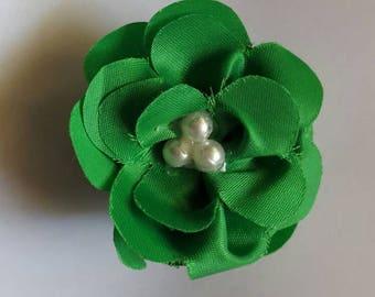 Green flower barrette