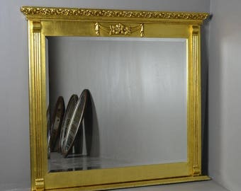 Antique Style Square Modern Gilt Frame Mirror