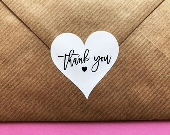 Thank You Stickers, Thank You Heart Stickers, Wedding Stickers, Wedding Favour Stickers, Party Favour Stickers, Heart Labels