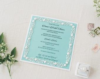 Bridal Shower Invitation Card/Birthday Invitation / Quinceanera Invitation / Bar & Bat Mitzvah Invitation