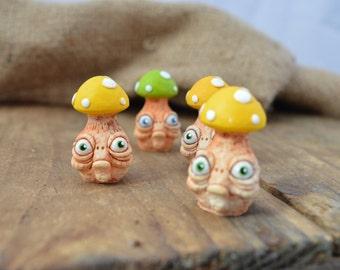 Magic Mushroom fantasy figurine handmade creature