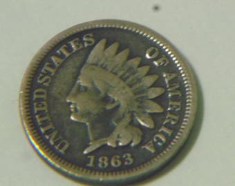 1863 Indian head cent (Z814)
