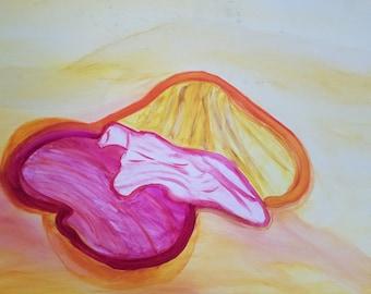 Pastel Seashell Acrylic