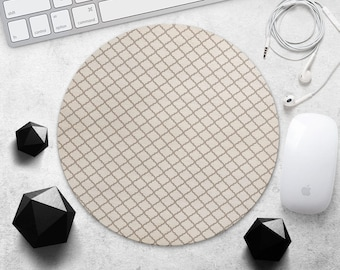 Geometric MousePad Stipes MouseMat Printed MousePad Ornament Mouse Pad Beige MouseMat Accessories Desk Pad Geometry MousePad Office Mousemat