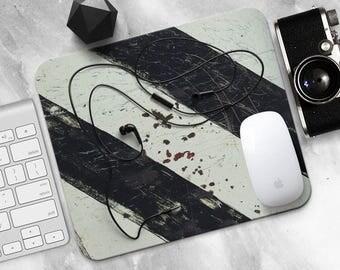 Road Mouse Pad Sign MousePad Metal Grunge Mouse Mat Black Office MousePad Gift Desk Decor Rusty MousePad Steampunk MouseMat Design MousePad