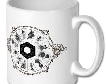 Zodiac Wheel Gothic Horoscope / star sign mug