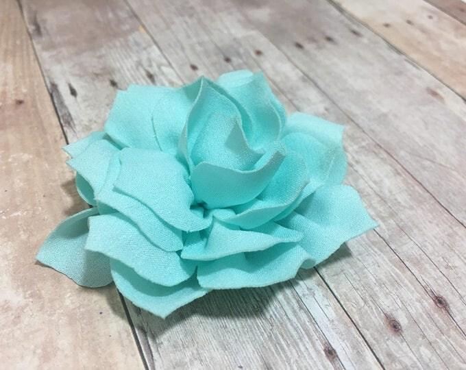 "3"" Aqua Lotus | Flower for Dog Collar | Medium/Large Dog | CupcakePups"