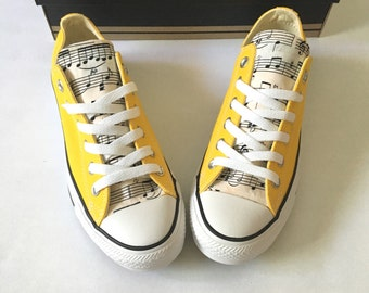 Musical Notes Converse, Music Converse, Womens Music Converse, Converse Sneakers