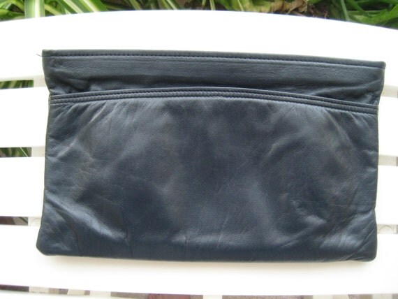 Etienne Aigner Blue Leather Clutch