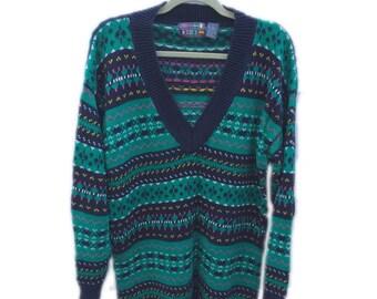 Womens Vintage 1980's Paris Sports Club Sweater, size L