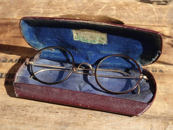 Vintage Shuron Eyeglass Frames : Vintage Shuron Gold Filled Round Eyeglass by SimplyAgain ...