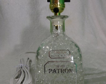 Patron Tequila Bottle Lamp - Gorgeous!  Great For Home Bar, Man Cave