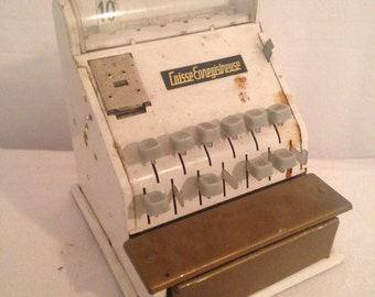 Cash register toy of Imitation Metal year 60 Vintage Rare