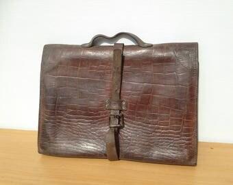 Door material leather Imitation Croc Vintage old towel