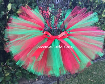 Christmas Tutu/ Red and Green Tutu/ First Christmas Tutu/ Christmas Photo Prop/ Baby Christmas Tutu