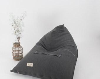 Large Bean Bag, BeanBag Chair, adults beanbag , grey Bean Bag,Teenagers Bean Bag,gift for teens, teens room decor,