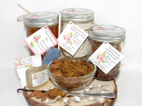 Sugaring Wax and Almond Vanilla Brown Sugar Scrub Deluxe Bundle