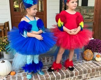Parrot costume, macaw costume, parrot tutu, halloween costume, pageant outfit, parrot, red tutu, parrot, rio, bird costume, bird tutu