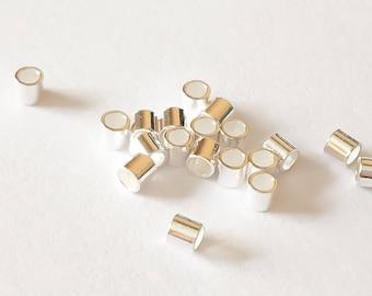 20 Sterling Silver Crimps Crimp Beads 2x2mm