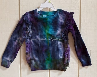 4T Toddler Sweater - Tiedye Sweater - Winter Sweater - Cotton Sweater - Toddler Clothes - Tie Dye - Tye Dye - Hippie Sweater - Unique