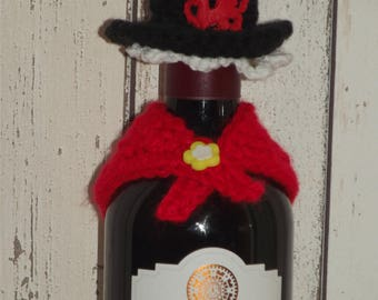 St David's Day Six Nations Welsh Costume Hat and Shawl Bottle Topper