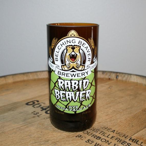 UPcycled Pint Glass - Belching Beaver - Rabid Beaver Rye IPA
