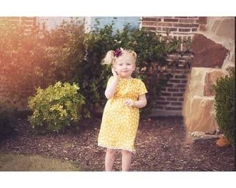 Girls peasant dress, girls fall dress, girls' clothing, flower girl dress, toddler fall dress- baby girl dresses- lace dress