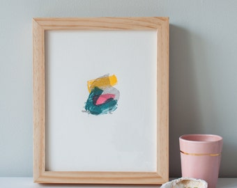 Abstract Hand-Drawn Fine Art Letterpress Print