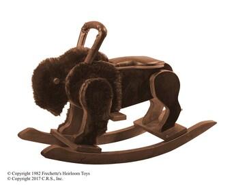 BIG-U'n ROK-A-ZOO Rocking Buffalo An Adult Version (rocking horse)