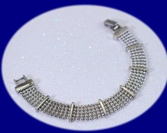 Vintage Monet Silver plated Mesh Bracelet Silver Bracelet Vintage Jewelry Christmas Gift Bridesmaid Gift