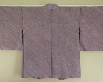 Women's, vintage purple and black color shibori Haori kimono jacket