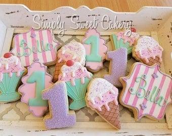 Ice cream Birthday Cookies