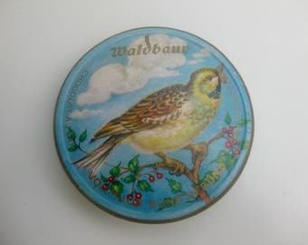 round, old Waldbaur chocolate box