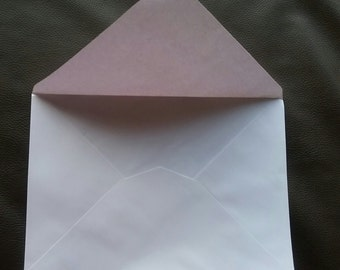 50 White Envelopes -5.5 inches wide x 7.5 inches high