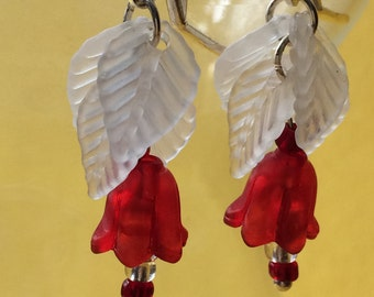 Red Blossom Handmade Earrings
