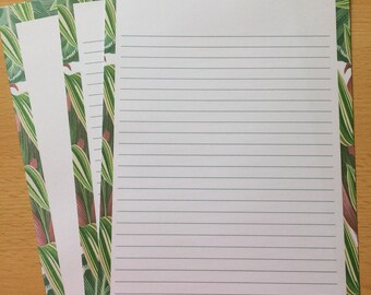 Tropical Leaves Writing Paper-Note Paper-Stationery