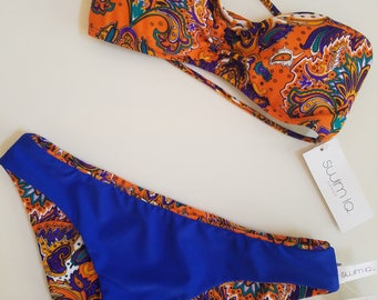 Paisley Bandeau Bikini