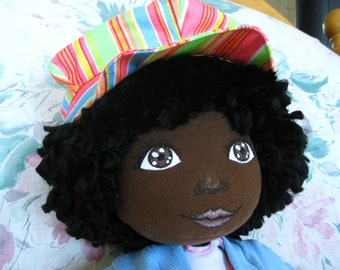 Handmade black cloth doll 19 inches