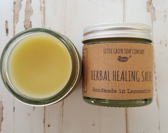 Herbal Healing Salve, Healing Balm, Natural Eczema Balm, Psoriasis Cream, Organic Skin Treatment