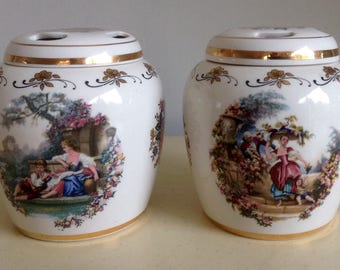 Pair of Ginger/Pot Pourri Jars by Lord Nelson Pottery. England.