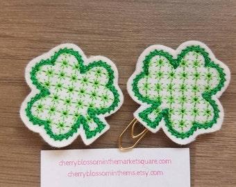 Shamrock St Patrick's Paper Clip
