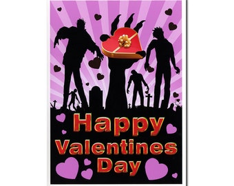 Funny Valentines Day Card, Funny Valentine Card, Walking Dead, Walking Dead  Valentine Card