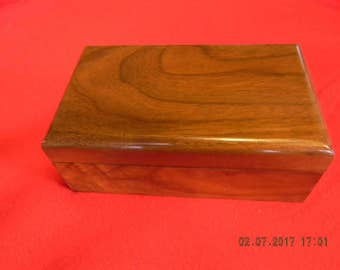 Walnut box  7.25 x 4.25 x 3 inch.