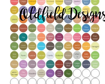 Edens Garden - EVERY OIL - Labels for your essential oil caps - Every Oil Edens Garden Carries